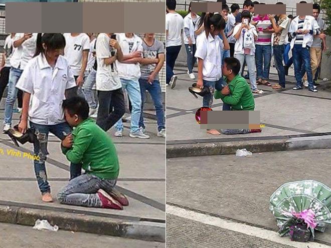 Thanh niên quỳ gối xin lỗi bạn gái gây xôn xao dân mạng - 1
