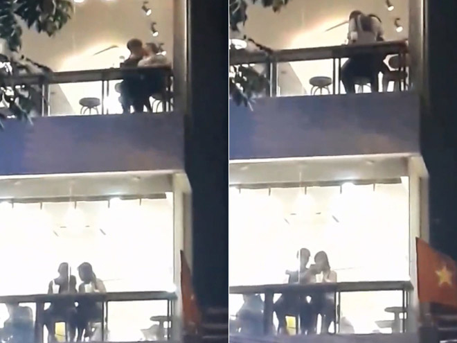 """Cặp đôi Sài thành ôm hôn, sờ soạng nhau trong quá trà sữa khiến dân mạng """"nóng mắt"""" - 2"""