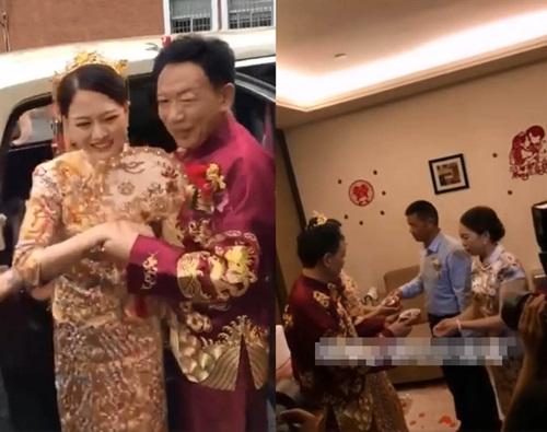 Đám cưới toàn siêu xe của cô dâu 26, chú rể 62 gây xôn xao dư luận - 1