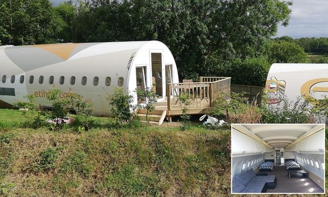 Thân máy bay dài 14,2m nên nó được tách thành 2 phần để chuyển từ Cardiff đến khu cắm trại của ông Toby trên quãng đường 160km