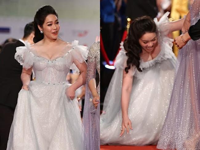 Ngoài việc phô trương được hình thể và độ sexy, Nhật Kim Anh cũng không ít lần gặp phải sự cố vì ham diện váy gợi cảm.