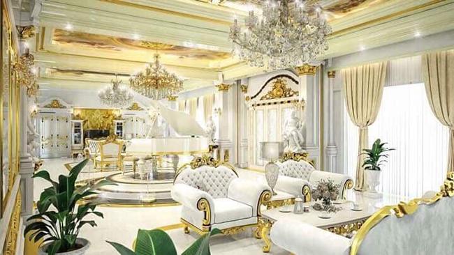 Căn nhàcó diện tích 3.200m2, tổng trị giá sau khi hoàn thiện trang trí và nội thất ước tính hơn 100 tỷ đồng.