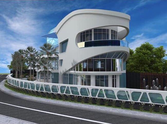 Hoa hậu 6 con cũng gây xôn xao khi chia sẻ bản vẽ ngôi biệt thự chồng tặng đang xây dựng ở Bình Dương cách đây không lâu.