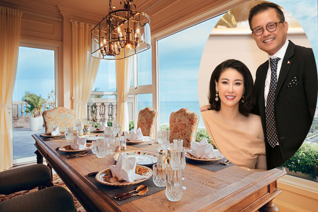 Gia đình Hà Kiều Anh sở hữu một căn penthouse ở phố biển Vũng Tàu, có diện tích 500 m2 với nội thất sang trọng, thiết kế theo phong cách hoàng gia.