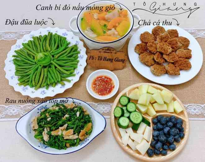 Mê tít mâm cơm đã ngon lại đẹp của mẹ đảm Hà thành, kéo cả chồng lẫn hai con trai vào bếp - 12