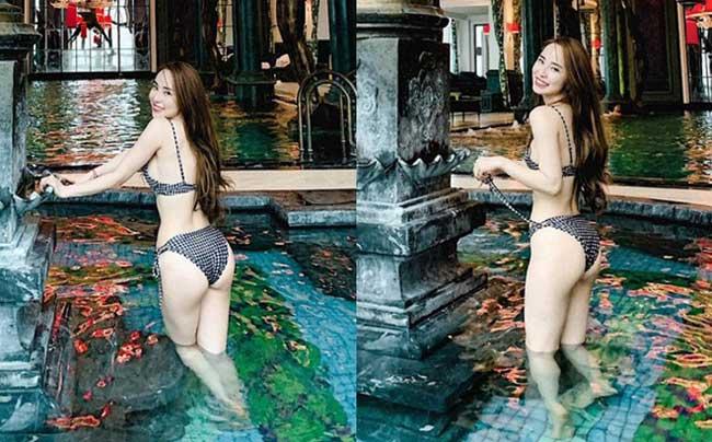 """Bikini cũng là trang phục """"gắn bó"""" với Quỳnh Nga."""
