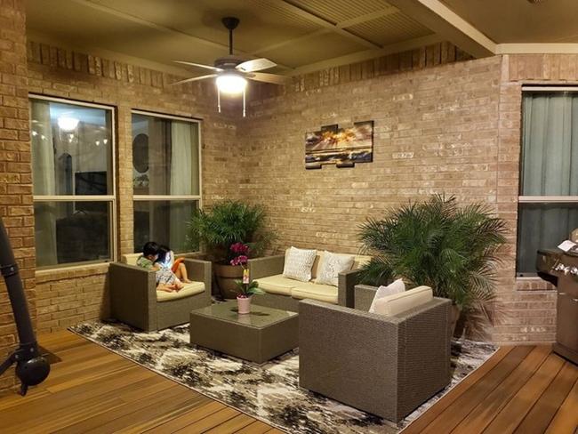 Phòng khách trong căn biệt thự hơn 11 tỷ ở Mỹ của Quách Thành Danh.