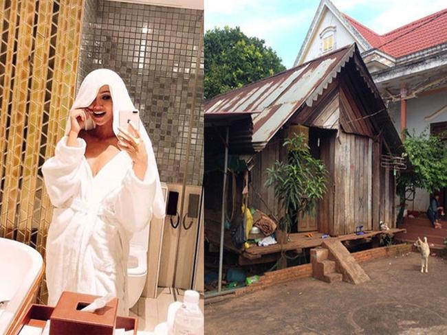Sau khi đăng quang, gia đình Hoa hậu 9X vẫn sống trong căn nhà gỗ đơn sơ theo kiến trúc của người Ê-đê và một căn nhà cấp 4 giản dị.