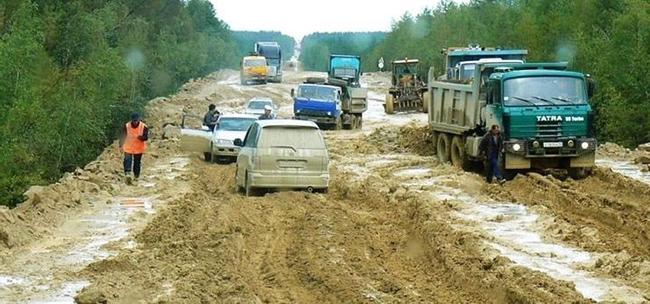 Đường cao tốc xuyên Siberia, Nga: Một trong những đường cao tốc dài nhất thế giới.  Trên đường đi là rừng rậm, những ngọn núi đáng sợ và động vật hoang dã đột nhiên bay vọt qua.  Tệ nhất là ¾ đường là đất nên đôi khi bạn sẽ bị dính bùn.