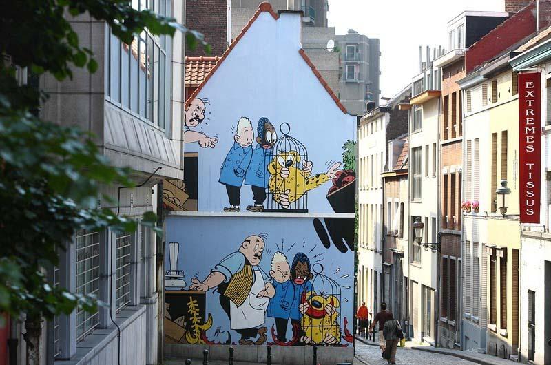 Con đường truyện tranh ở Bỉ, đi đâu cũng thấy hình ảnh hoạt hình trên phố - 1