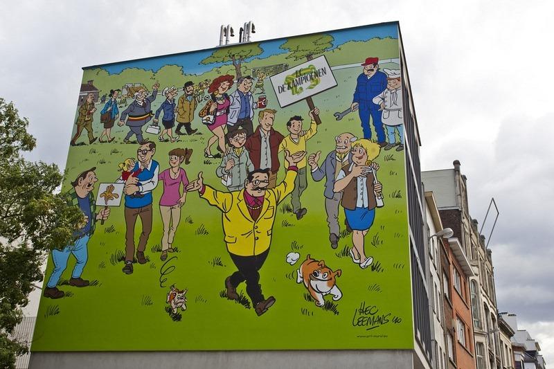 Đường phố hoạt hình ở Bỉ, hình ảnh hoạt hình trên đường phố ở khắp mọi nơi - 11