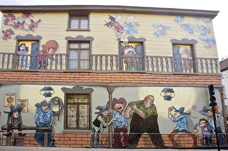 Đường phố hoạt hình ở Bỉ, phim hoạt hình ở khắp mọi nơi - 3