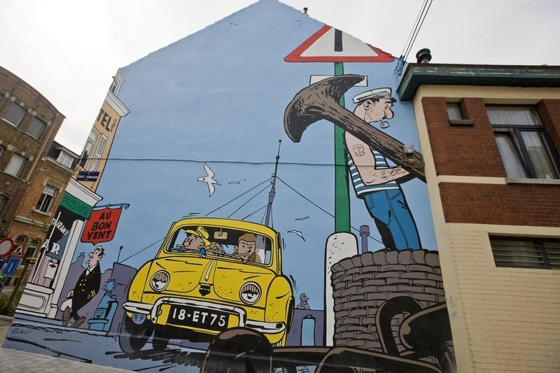 Đường phố hoạt hình ở Bỉ, hình ảnh hoạt hình trên đường phố mọi lúc mọi nơi - 4