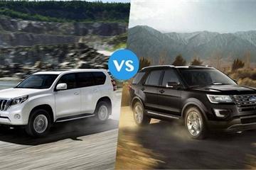 SUV trên 2 tỷ: Chọn Ford Explorer hay Toyota Land Cruiser Prado?