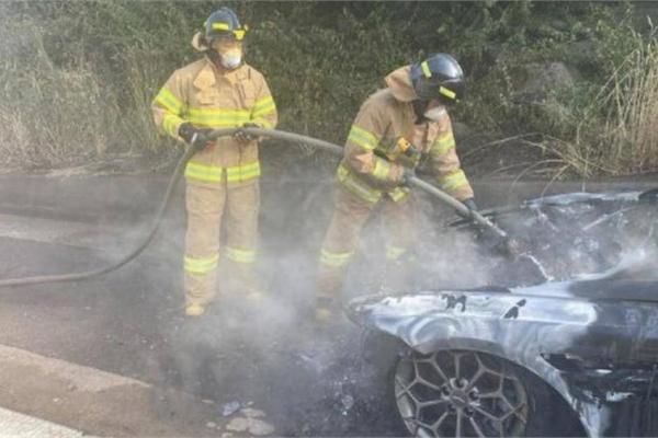 Xế sang Genesis G80 2021 bốc cháy, Hyundai cấp tốc điều tra