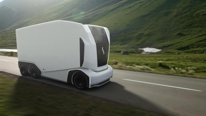 Cận cảnh mẫu xe tải chạy điện không người lái 2