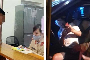 Hà Nội: Tài xế SantaFe say rượu ngủ ngay trên xe bị phạt hơn 40 triệu đồng