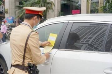 Xe bị dán giấy phạt nguội, phải xử lý thế nào?
