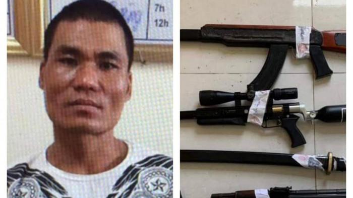 """Cảnh sát đột nhập Karaoke Lucky bắt nhóm """"Tú cải"""" thu giữ nhiều súng đạn 1"""