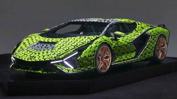Cận cảnh siêu xe Lamborghini Sian mô hình làm từ 400 nghìn mảnh ghép Lego 1