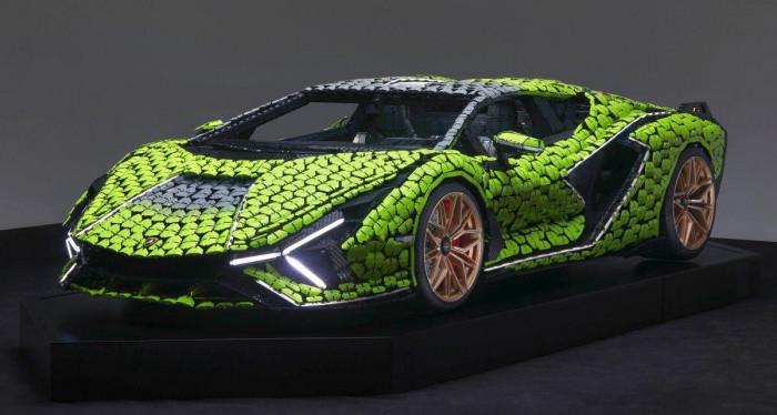 Cận cảnh siêu xe Lamborghini Sian mô hình làm từ 400 nghìn mảnh ghép Lego 3