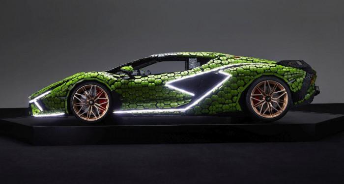 Cận cảnh siêu xe Lamborghini Sian mô hình làm từ 400 nghìn mảnh ghép Lego 7