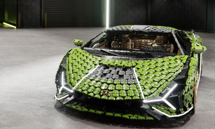 Cận cảnh siêu xe Lamborghini Sian mô hình làm từ 400 nghìn mảnh ghép Lego 15
