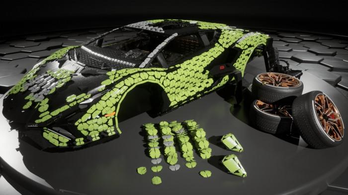 Cận cảnh siêu xe Lamborghini Sian mô hình làm từ 400 nghìn mảnh ghép Lego 16