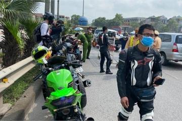 Tạm giữ đoàn xe phân khối lớn chạy kinh hoàng ở cao tốc Hà Nội - Thái Nguyên