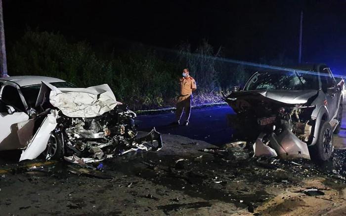 Hà Giang: Đấu đầu xe bán tải, 2 người trên xe Vinfast tử vong tại chỗ 1