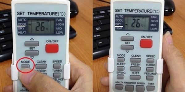 Sử dụng chế độ dry giúp điều hòa tiết kiệm điện