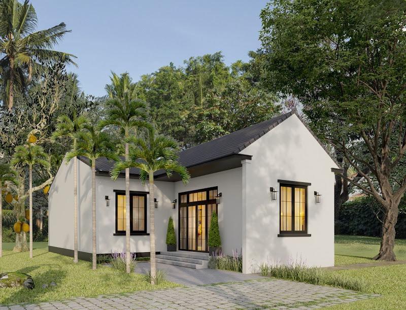 1617780147 img 20210403 210401 1407 - Ba chị em gái ở Bình Định xây nhà cấp 4 tuyệt đẹp tặng bố mẹ