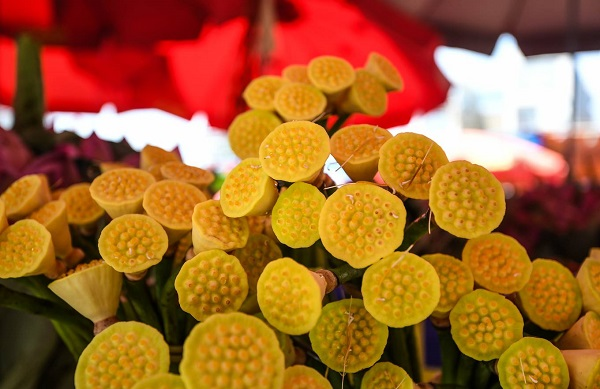 Quang Ba wholesale market is the busiest destination for lotus flower lovers and sellers thanks to its proximity to some big lotus ponds in West Lake.