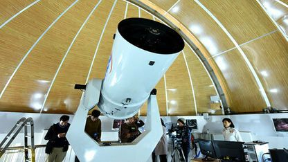 0.5-meter telescope at Hoa Lac Astronomical Station in Hanoi. Photo: Giang Huy