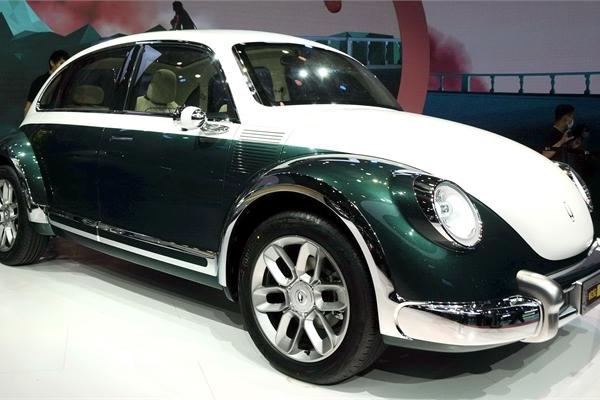 Volkswagen Beetle bị làm nhái trắng trợn tại Trung Quốc với phiên bản chạy điện