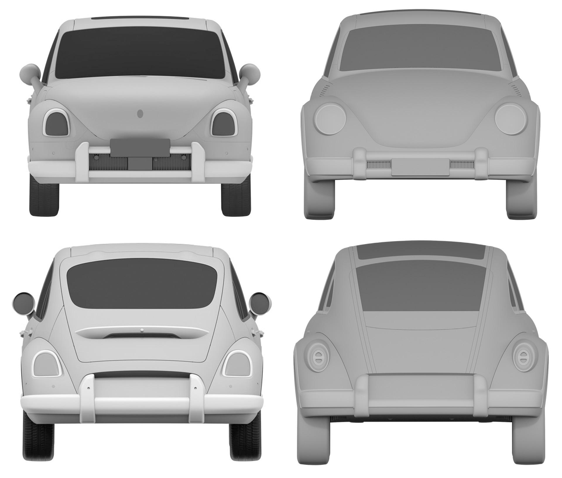 So sánh thiết kế của Volkswagen Beetle và ORA Punk Cat