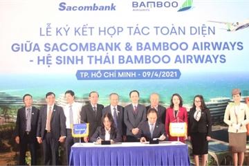 Chủ tịch Sacombank tại lễ ký hợp tác toàn diện với Bamboo Airways: 'Hai thương hiệu, triệu giá trị'