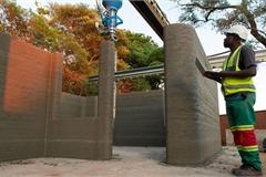Nhà và trường học đầu tiên được xây bằng công nghệ in 3D tại châu Phi