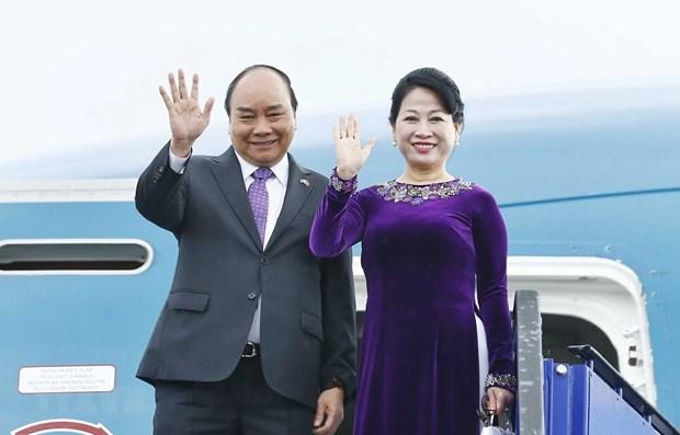 Thu tuong Nguyen Xuan Phuc len duong tham du Hoi nghi Cap cao ASEAN hinh anh 1