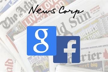News Corp ký thỏa thuận sử dụng tin tức với Google, Facebook