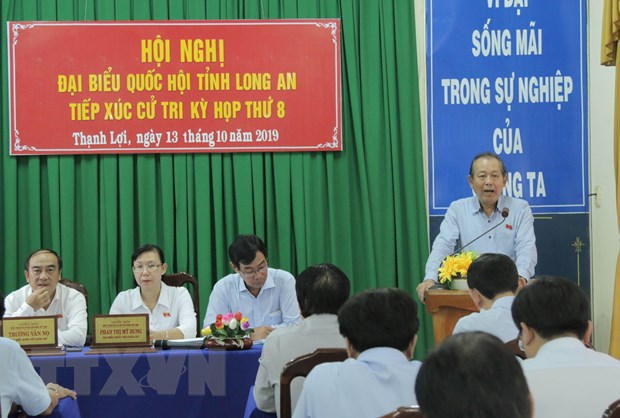 Phó Thủ tướng Trương Hòa Bình trả lời cử tri về vấn đề Biển Đông