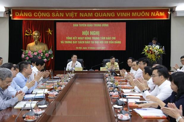 Trung tam Bao chi Dai hoi XIII cua Dang: Chu dong, khoa hoc, bai ban hinh anh 1