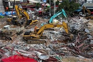 Tòa nhà Trung Quốc thi công bị sập tại Campuchia xây dựng trái phép