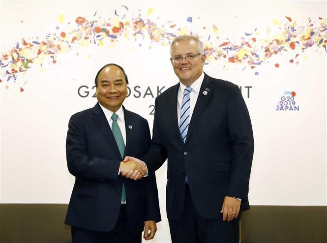 PM Phuc meets with Australian PM Scott Morrison, June 29 (Photo: VNA)