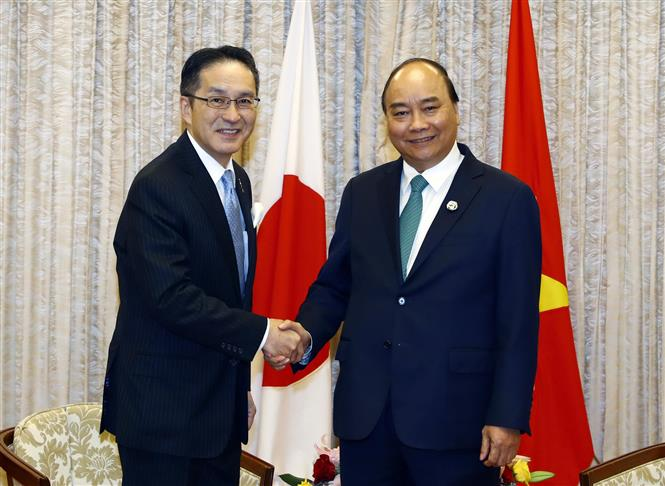 PM Phuc receives Kakinoki Masumi, President and CEO of Marubeni Group, June 29 (Photo: VNA)