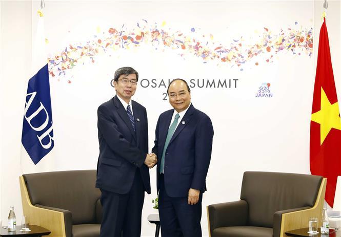 PM Phuc receives ADB President Takehiko Nakao, June 29 (Photo: VNA)