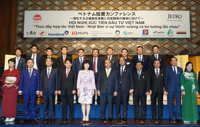 PM Nguyen Xuan Phuc attends the Vietnam-Japan trade promotion conference (Photo: VNA)