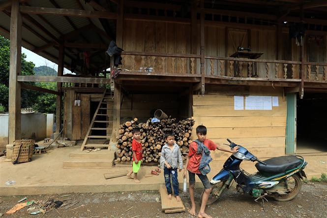 Children at Huoi Long village (Photo: VNA)