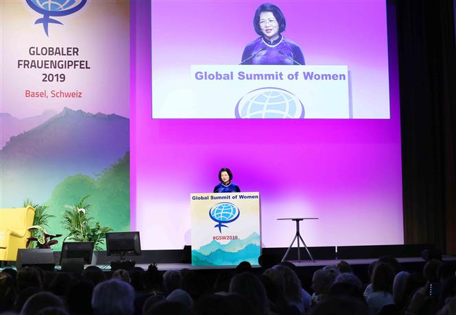 Vice President attends the 2019 Global Summit of Women in Basel city, Switzerland, July 4 (Photo: VNA)