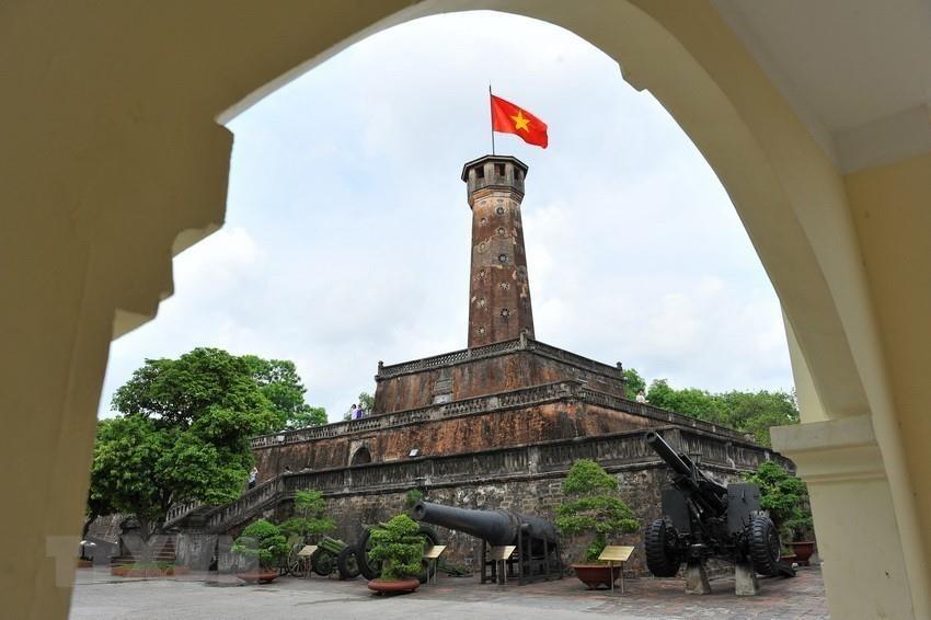Hanoi flag pole, built in 1812 (Photo: VNA)
